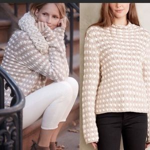🌿Anthro Sleeping on Snow Popcorn Stitch Sweater M